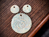 Marsha Neal Studio Charm and Pendant Set—Windswept—Fairy Blue Green