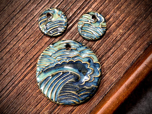 Marsha Neal Studio Charm and Pendant Set—Wave—Tidal Pool