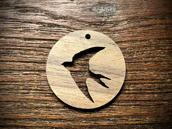 Wooden Pendant—Swallow Cut-Out - 4302