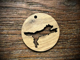 Wooden Pendant—Wolf Cut-Out - 3860