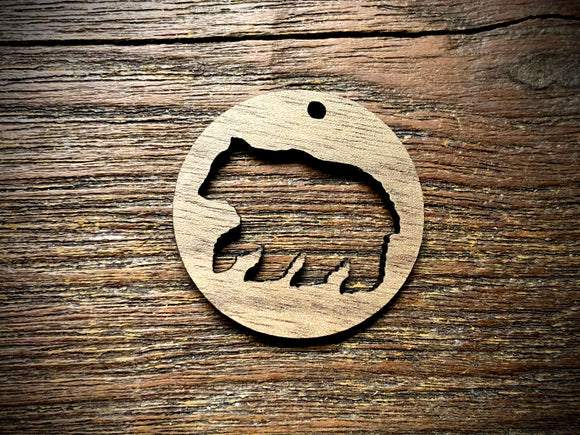 Wooden Pendant—Bear Cut-Out - 3861