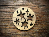 Wooden Pendant—Stars Cut-Out - 3950