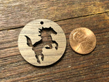 Wooden Pendant—Horse Cut-Out - 3947