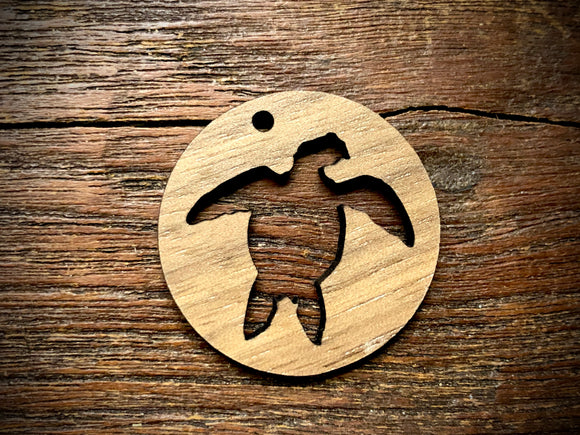 Wooden Pendant—Sea Turtle Cut-Out - 4301