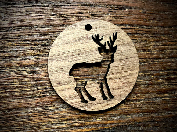 Wooden Pendant—Stag Cut-Out - 3949
