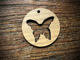Wooden Pendant—Butterfly Cut-Out - 3857