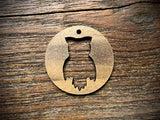 Wooden Pendant—Owl Cut-Out - 4303