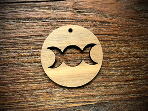 Wooden Pendant—Triple Goddess Cut-Out - 3951