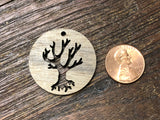 Wooden Pendant—Tree Cut-Out - 4335