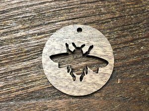 Wooden Pendant—Bee Cut-Out - 3858