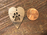 Wooden Pendant—Heart Paw Cut-Out (Small) - 4336