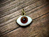 Small Glass Eye Pendant/Charm (11mm-19mm) - 3422