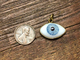 Medium Glass Eye Pendant/Charm (20mm-24mm) - 3421