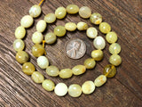 Yellow Opal 8x10mm Pebble Beads