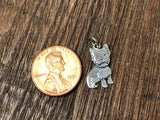 Sterling Silver Yorkie Dog Charm