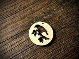 Wooden Pendant—Bird on Branch Cut-Out - 4366