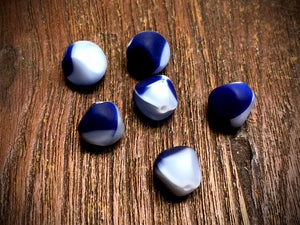 Vintage German Glass 10mm Matte Nugget Beads