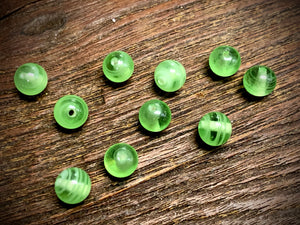Vintage Japanese Glass 8mm Swirly Round Beads