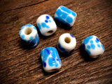 Vintage Japanese Glass 11mm Tube Beads