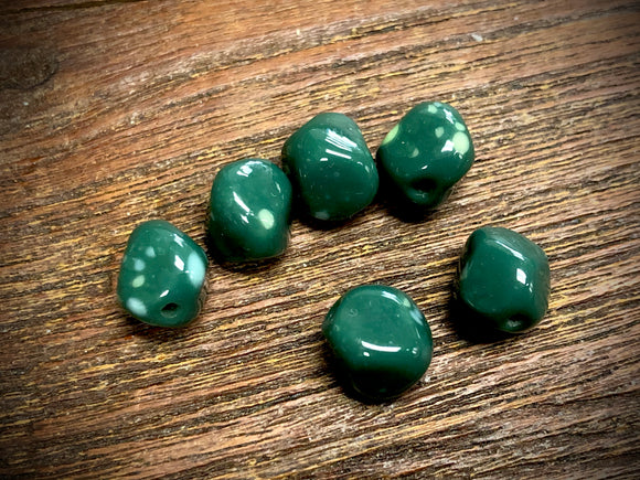 Vintage Japanese Glass 10mm Nugget Beads