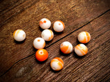 Vintage German Glass 8mm Round Beads