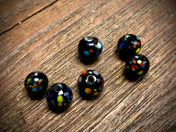 Vintage Japanese Glass 8mm Round Beads