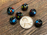 Vintage Japanese Glass 10mm Round Beads