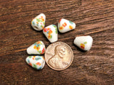 Vintage Japanese Glass 12mm x 9mm Tombo Beads