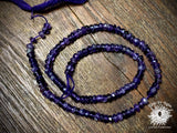Amethyst 4x2mm-5x3mm Hand-Cut Faceted Rondelle Beads