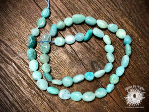 Peruvian Amazonite 8x10mm Pebble Beads