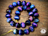 Dyed Tiger Eye Rainbow 14mm Round Beads