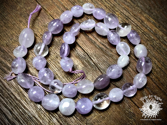 Lavender Amethyst 8x10mm Pebble Beads