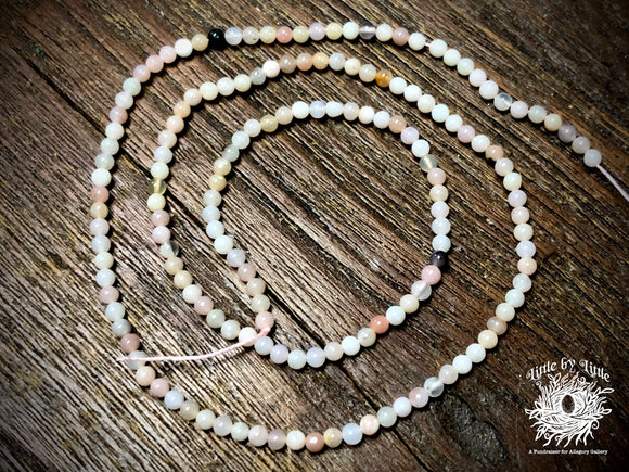 Pink Opal 2mm Round Beads