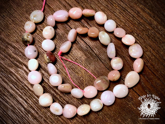 Pink Opal 6x8-8x10mm Pebble Beads