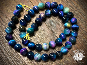 Dyed Tiger Eye Rainbow 8mm Round Beads
