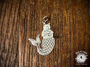 "Sterling Silver ""Purr-Maid"" Cat Mermaid Charm"