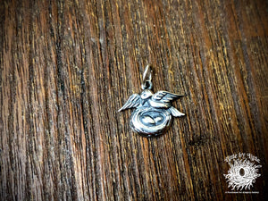 Sterling Silver Mama Bird with Nest Charm