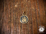 Bronze Four Elements Fire Charm