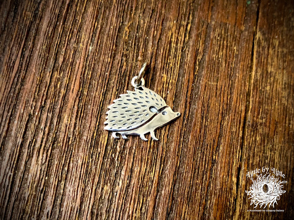 Sterling Silver Hedgehog Charm