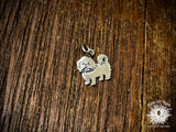 Sterling Silver Maltese Dog Charm