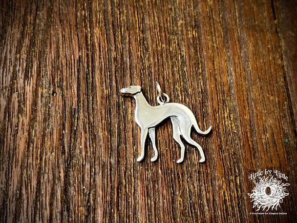 Sterling Silver Greyhound Dog Charm