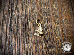 Tiny Bronze Honeybee Charm