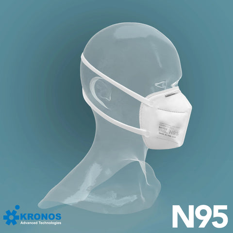 KRONOS N95 Respirator Made In USA (10 or 20 pcs/pk)