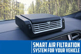 Kronos Car Air Purifier - Washable Filters - Patented TPA Technology to Remove air pollutants, smoke, allergens, Harmful Bacteria & Viruses. For healthy in-cabin air.