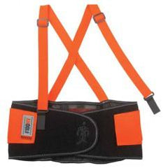 100HV XS ORANGE HI-VIS BACK SUPPORT