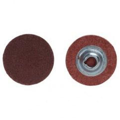 "3"" - 80 Grit - Aluminum Oxide - Merit Metal Turn-On Quick Change Disc"