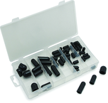 "80 Pc. Vacuum Cap Assortment - 3/16"" - 3/8"". Constructed of heat resistant Buna-N Rubber"