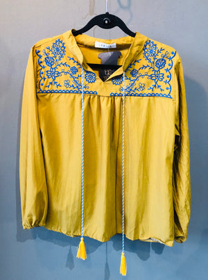 Peasant Shirt with tassles and embroidery