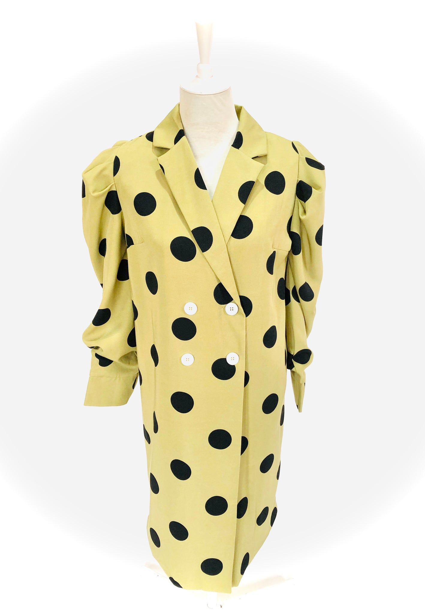 Avocado Polkadot Coat