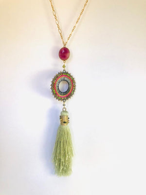 Tassel Necklace with beading